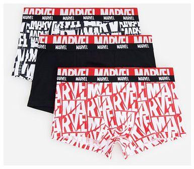 Reserved - Bawełniane boskerki ze wzorem Marvel 3 pack - Czerwony