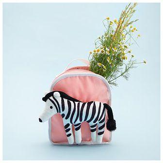 Reserved - Plecak z zebrą - Różowy