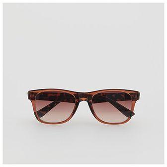 Reserved - Okulary przeciwsłoneczne z motywem zwierzęcym - Brązowy
