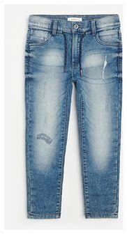 Reserved - Bawełniane joggery jeansowe - Granatowy