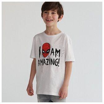 Reserved - T-shirt Spider-Man - Biały