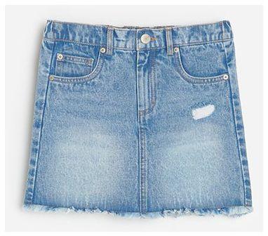 Reserved - Jeansowa spódnica mini - Niebieski