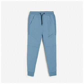 Reserved - Dresowe joggery z kieszeniami - Niebieski