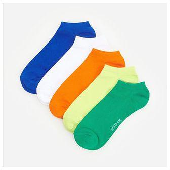 Reserved - Kolorowe skarpety stopki 5 pack - Niebieski