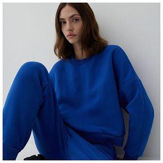 Reserved - Bluza z bawełną organiczną - Niebieski