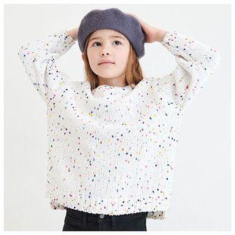 Reserved - Sweter z kolorowymi supełkami - Kremowy