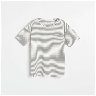 Reserved - T-shirt w paski - Kremowy