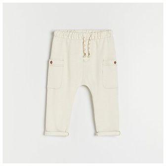 Reserved - Dzianinowe spodnie - Biały