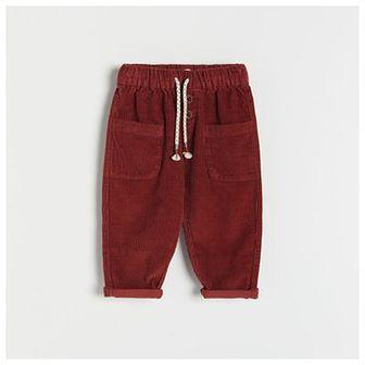 Reserved - Sztruksowe spodnie - Bordowy