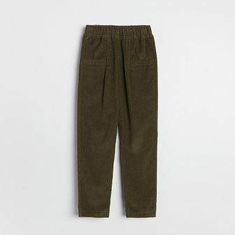 Reserved - Sztruksowe spodnie - Khaki