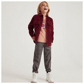 Reserved - Spodnie w kratę - Szary