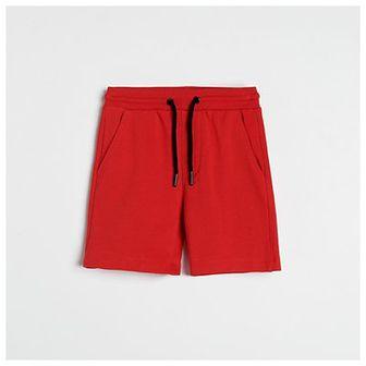 Reserved - Dzianinowe szorty - Czerwony