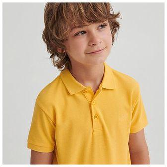 Reserved - Bawełniana koszulka polo - Beżowy