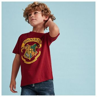 Reserved - T-shirt Harry Potter - Bordowy