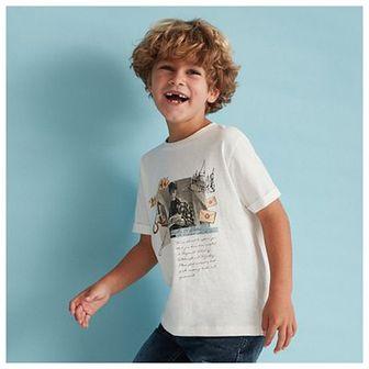 Reserved - Bawełniany t-shirt z nadrukiem Harry Potter - Kremowy