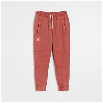 Reserved - Bawełniane joggery - Czerwony