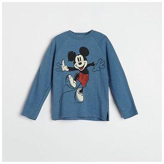 Reserved - Koszulka z nadrukiem Myszka Miki - Niebieski