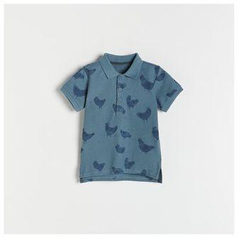 Reserved - Polo z kołnierzykiem - Niebieski