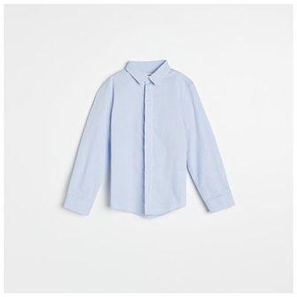 Reserved - Bawełniana koszula w kropki - Niebieski