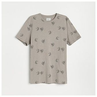 Reserved - T-shirt z nadrukiem - Szary