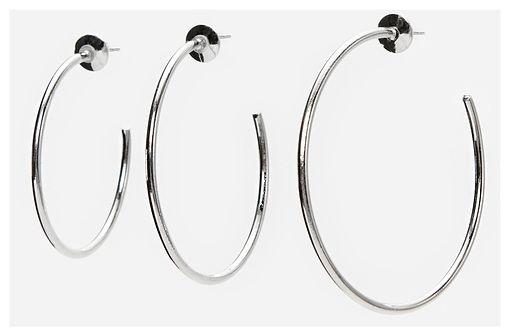 Reserved - Kolczyki koła 3 pack - Srebrny