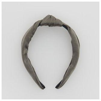 Reserved - Opaska na włosy z ozdobnym węzłem - Khaki