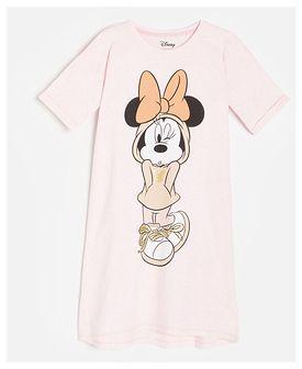 Reserved - Koszula nocna z nadrukiem Myszka Minnie - Różowy
