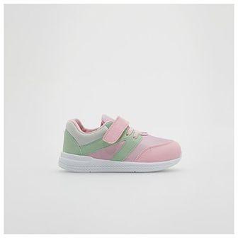 Reserved - Sneakersy z łączonych materiałów - Fioletowy