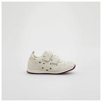 Reserved - Sneakersy z łączonych materiałów - Kremowy