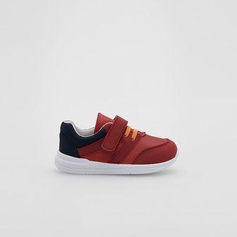 Reserved - Sneakersy z łączonych materiałów - Czerwony
