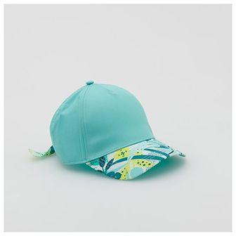 Reserved - Bawełniana czapka z daszkiem - Turkusowy