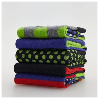 Reserved - Kolorowe skarpety 5-pak - Zielony