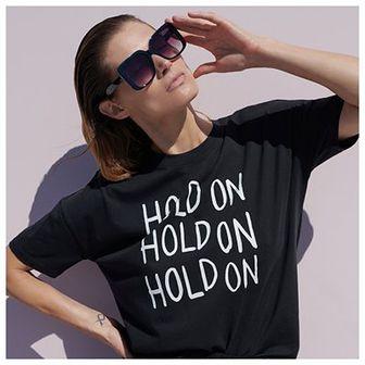 Reserved - Bawełniany t-shirt z nadrukiem - Czarny