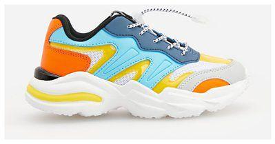 Reserved - Sneakersy z łączonych materiałów - Beżowy