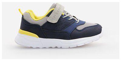Reserved - Sneakersy z łączonych materiałów - Granatowy