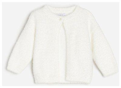 Reserved - Pluszowy sweter - Biały