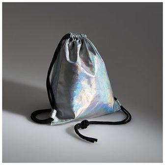 Reserved - Holograficzny plecak worek - Srebrny