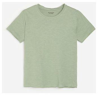 Reserved - Bawełniany t-shirt - Turkusowy