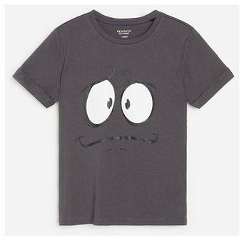 Reserved - Bawełniany t-shirt z nadrukiem - Szary
