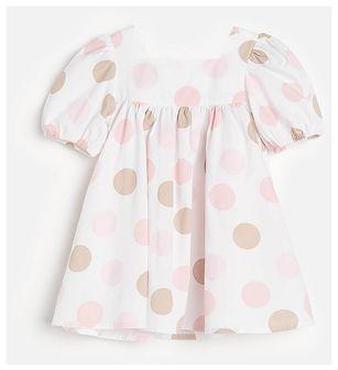 Reserved - Bawełniana sukienka w grochy - Wielobarwny