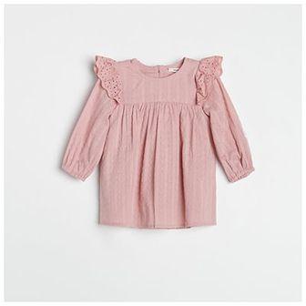 Reserved - Sukienka z ażurowymi wstawkami - Różowy