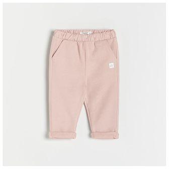 Reserved - Spodnie z naszywką - Różowy