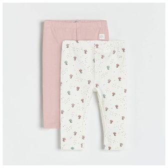 Reserved - Bawełniane legginsy 2 pack - Kremowy