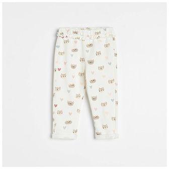 Reserved - Bawełniane spodnie dresowe - Kremowy