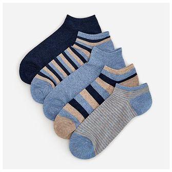 Reserved - Wzorzyste skarpety z bawełną 5 pack - Niebieski