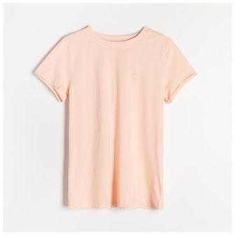 Reserved - Bawełniana koszulka - Pomarańczowy