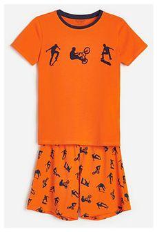 Reserved - Bawełniana piżama z nadrukiem - Czerwony