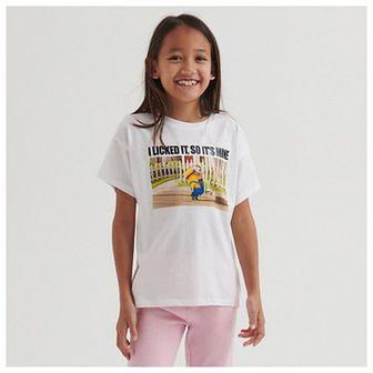 Reserved - Bawełniany t-shirt Minionki - Biały