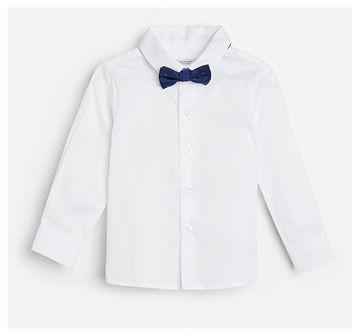 Reserved - Bawełniana koszula z muszką - Biały