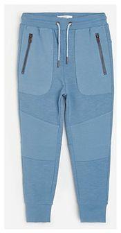 Reserved - Bawełniane joggery z kieszeniami - Niebieski